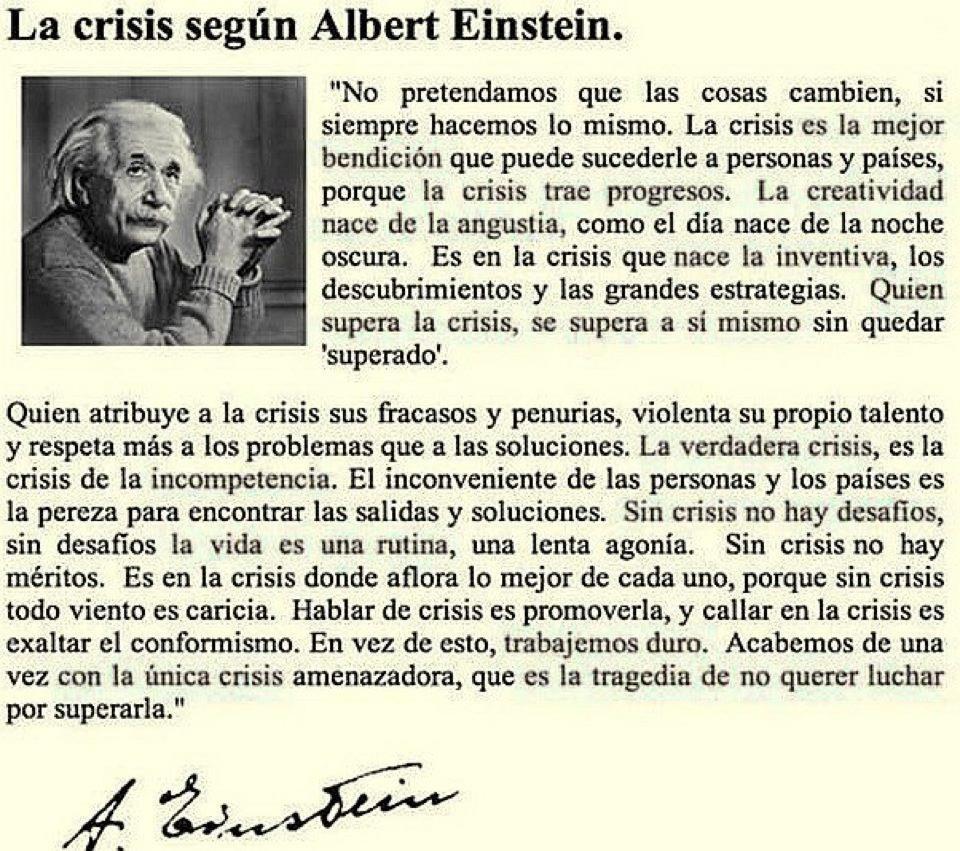 La Crisis Seg  N Albert Einstein