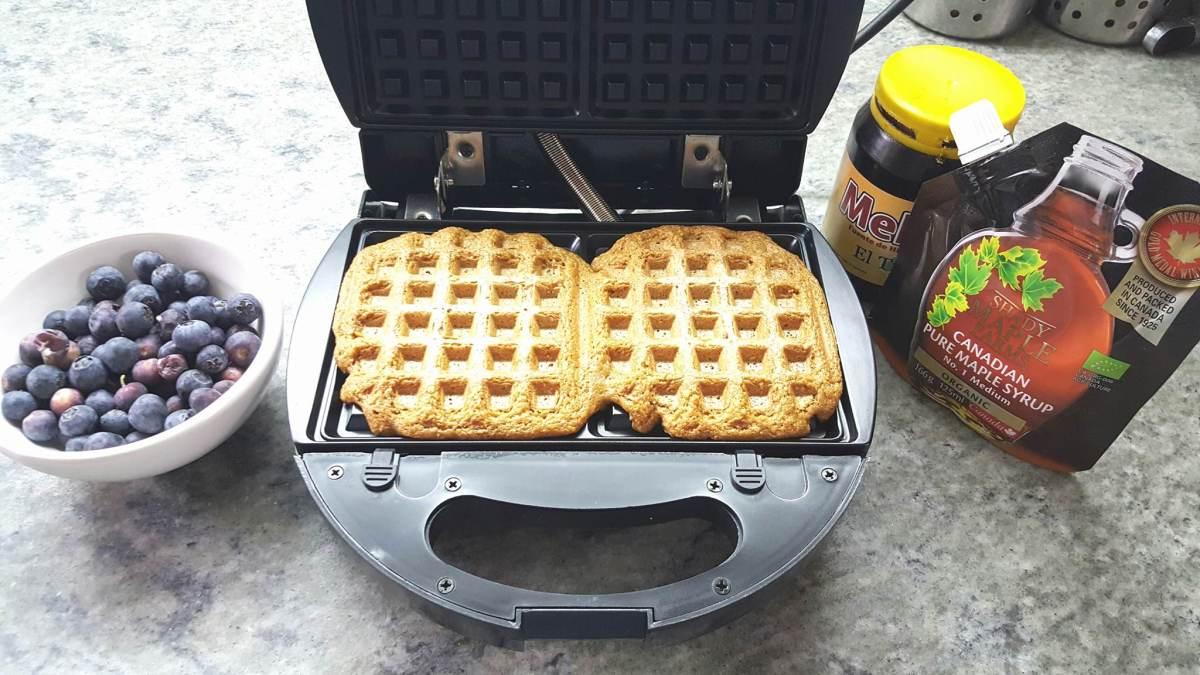 #Waffles #veganos de #avena #vegan #oat